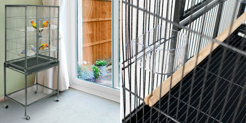 Review of Zeny 53-Inch Bird Cage with Stand Wrought Iron Construction