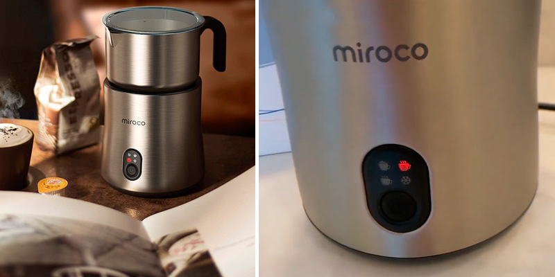 Miroco MI-MF005 Automatic Stainless Steel Milk Steamer Frother in the use