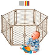 North States Indoor/Outdoor Superyard Baby Gate