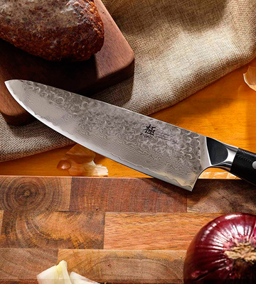Review of Kyoku Damascus 8 Chef Knife