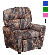 Flash Furniture BT-7950-KID-CAMO-GG Camouflaged Fabric Kids Recliner with Cup Holder