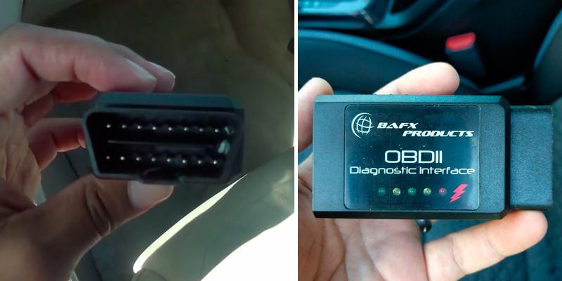 BAFX Products OBDII Diagnostic Interface Reader Scanner in the use