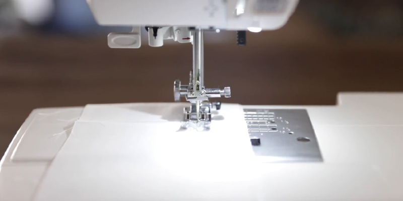 Janome 4120QDC Computerized Sewing Machine in the use