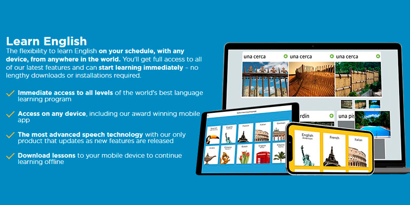 Detailed review of Rosetta Stone Learn English (American) Online