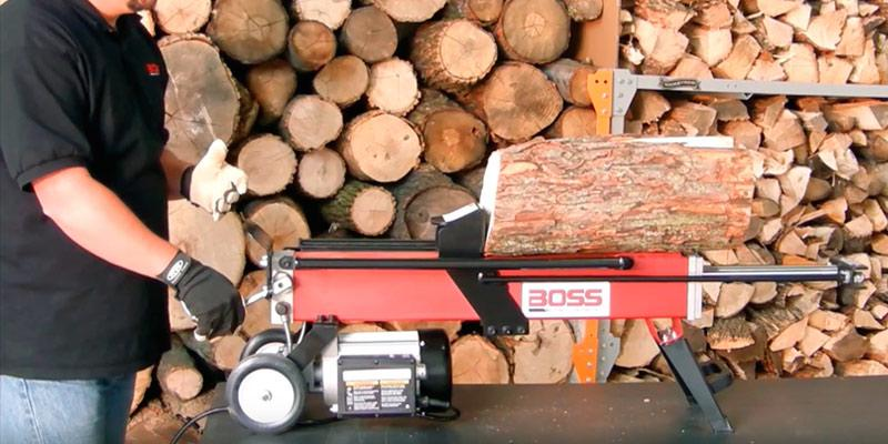 Boss Industrial ES7T20 Electric Log Splitter in the use