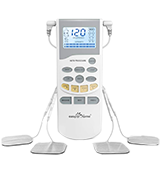 Easy@Home EHE012PRO Electronic Pulse Massager (Backlit LCD Display, FSA Eligible OTC Home Use)