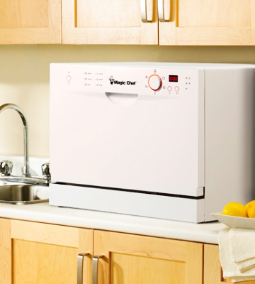 Review of Magic Chef MCSCD6W3 6 Place Settings Countertop Dishwasher, White