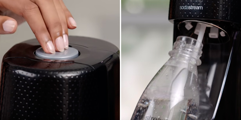 SodaStream Fizzi Soda Sparkling Water Maker in the use