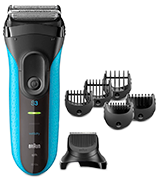 Braun Series 3 3010BT Men's Beard Trimmer/Hair Clipper, Electric Razor, Foil Shaver