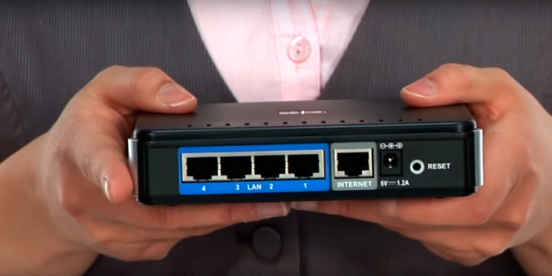 D-Link EBR-2310 Ethernet Broadband Router in the use