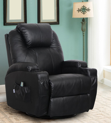 Review of Esright Massage Recliner Heated PU Leather Ergonomic Lounge 360 Degree Swivel
