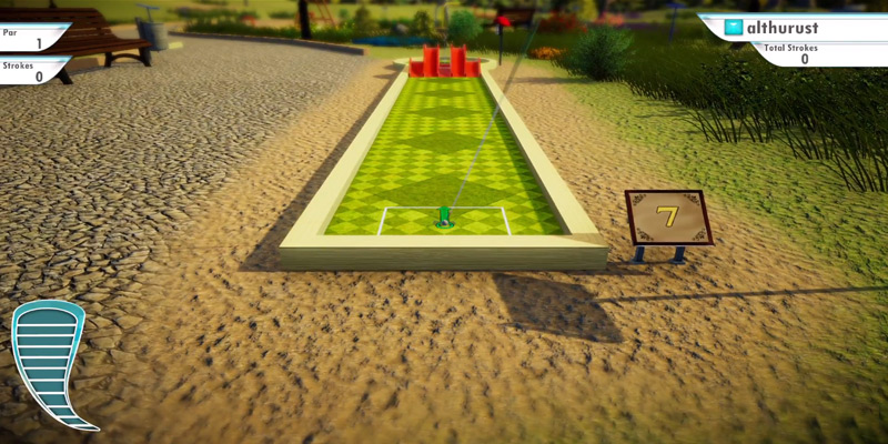 PQube 3D Mini Golf for PlayStation 4 in the use