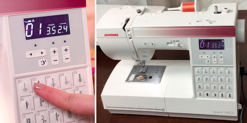 Janome 740DC Sewing Machine in the use