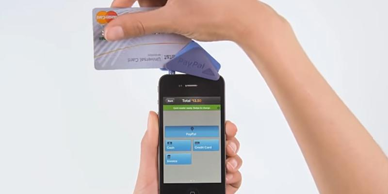 Paypal Mobile Credit Card Reader/Swiper in the use