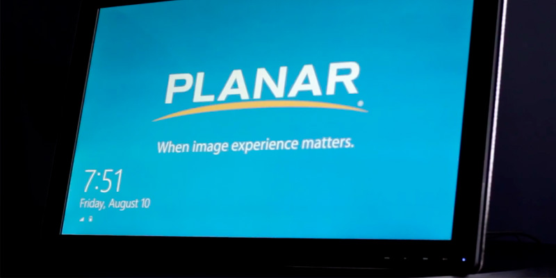 Planar PCT2785 Widescreen Multi-Touch Monitor in the use
