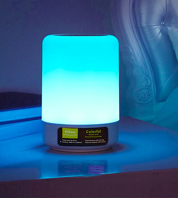 Review of DIKAOU Touch Bedside Lamp with LED Bluetooth Speaker