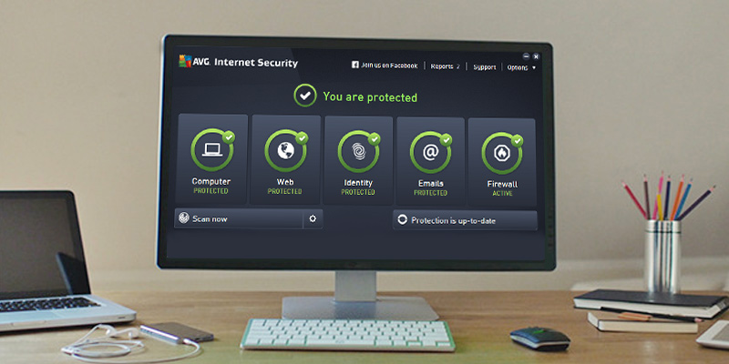 AVG Internet Security Unlimited in the use