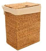 Seville Classics Foldable Water Hyacinth Hamper