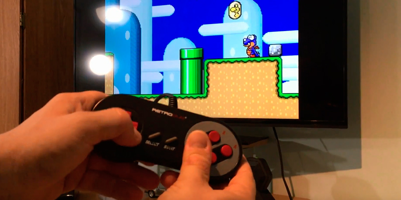 Retro-Bit Duo Twin NES and SNES System in the use