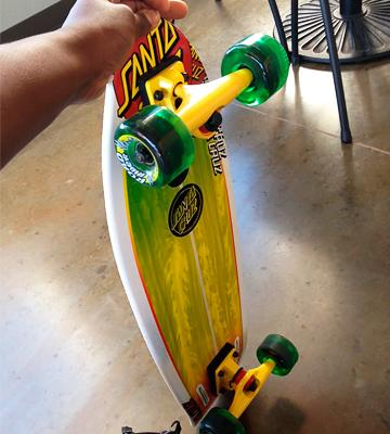 Review of Santa Cruz Skateboards Land Shark Rasta Sk8 Complete Skate Boards