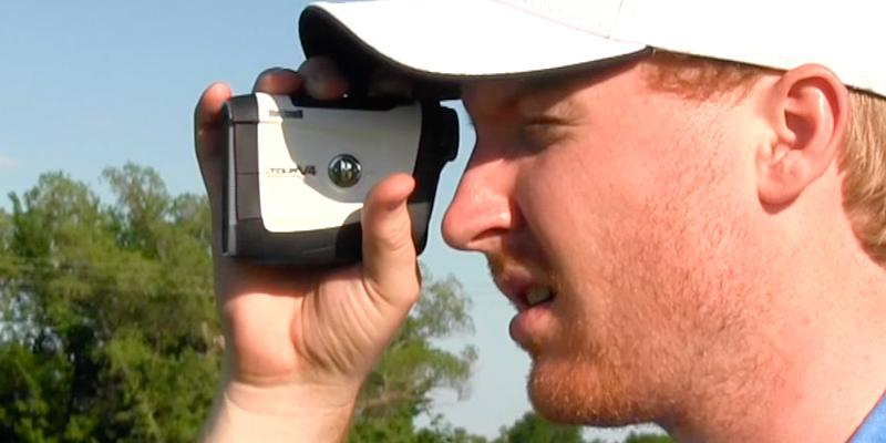 Bushnell Tour V4 JOLT Golf Laser Rangefinder in the use