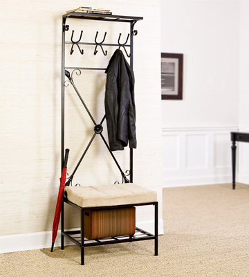 Review of Southern Enterprises, Inc. Entryway Storage Rack with Bench Seat