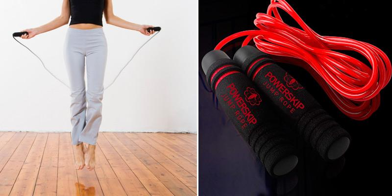 Review of PowerSkip Adjustable Jump Rope with Memory Foam Handles