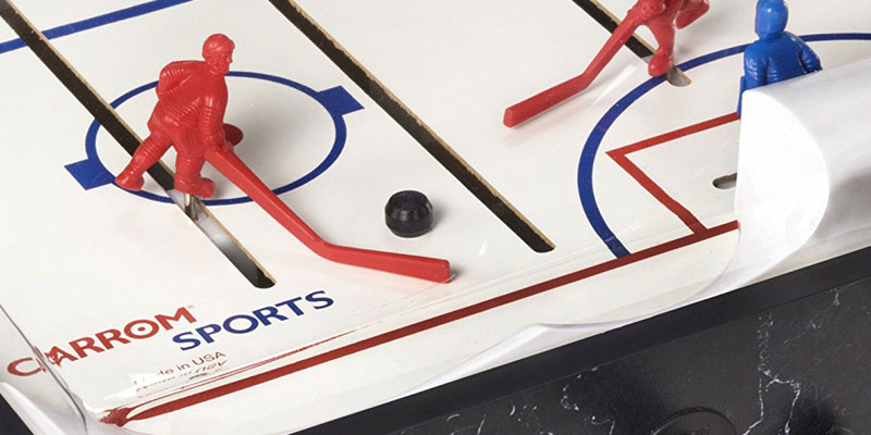 Carrom Super Stick Hockey Table in the use