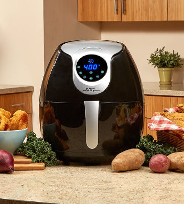 Review of Power Air Fryer XL 3.4 QT Deluxe, Black Air Fryer