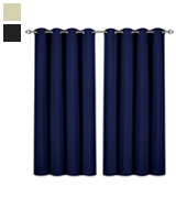 Utopia Bedding UB0114 Blackout Room Darkening and Thermal Insulating Window Curtains