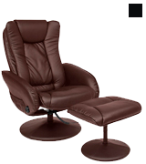 Best Choice Products SKY2892 PU Leather Massage Recliner Ottoman , 5 Heat & Massage Modes