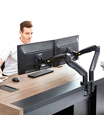 Review of North Bayou 1001070680 Dual Monitor Desk Mount Stand (Fits 2 Screens up to 27'')