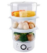 Ovente FS53 W Electric Vegetable and Food Steamer