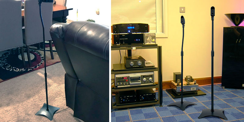 Review of 9HORN Adjustable Height Speaker Stands for Stallite Speakers