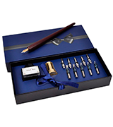 Plotube Wooden Pen Calligraphy Set Dip Wood Pen Gift Writing Case