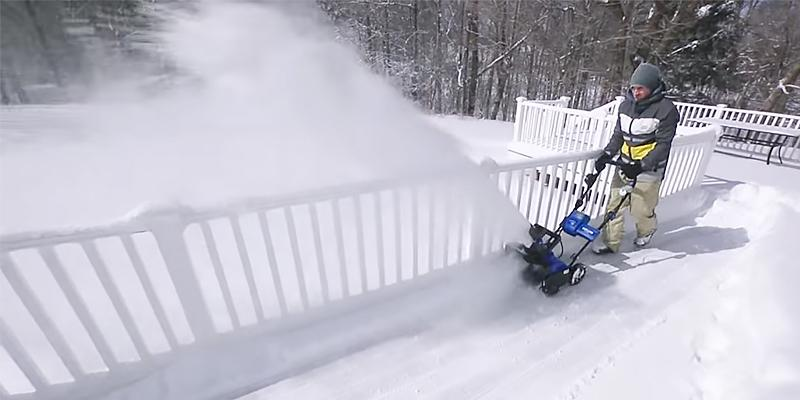 Snow Joe ION18SB Cordless Single Stage Brushless in the use