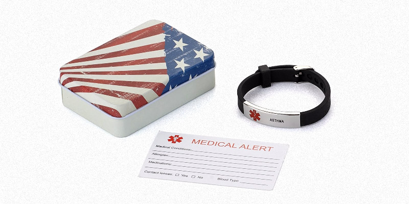 BAIYI J172-1 Silicone Bracelet Medical Alert ID in the use