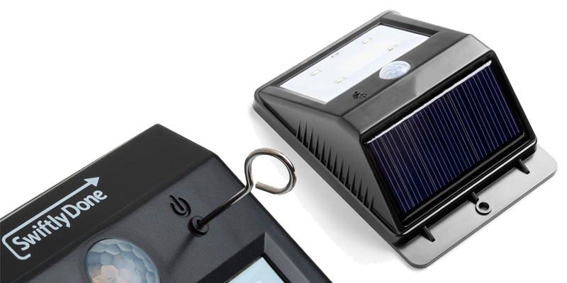 Swiftly Done 610694105778 Bright Solar Power Outdoor Light in the use