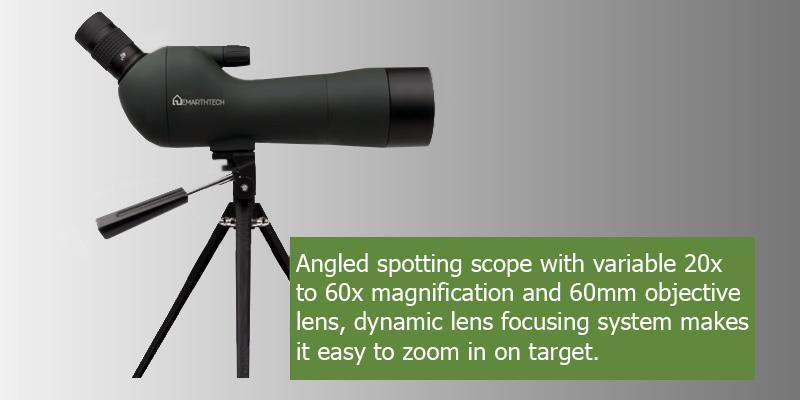 Emarth Waterproof Angled Spotting Scope in the use