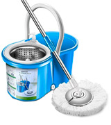 Aootek Spin Mop Stainless Steel Deluxe with Bucket