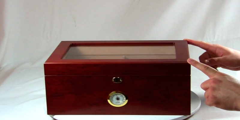 Review of Mantello Cigars 100 Cigar Glasstop Desktop Humidor