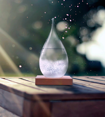Review of Amymami Storm Glass Weather Predictor with Wood Base