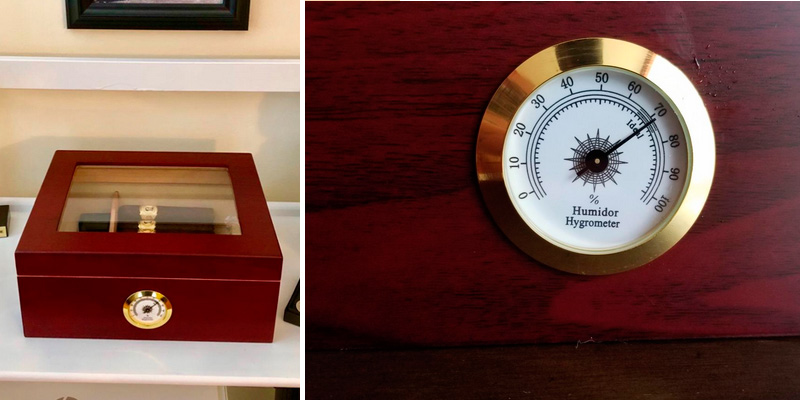 Mantello Cigars GLASSTOP Desktop Royale Humidor application