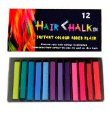 LDREAMAM 12 Colors Temporary Hair Chalk for Kids and Adults