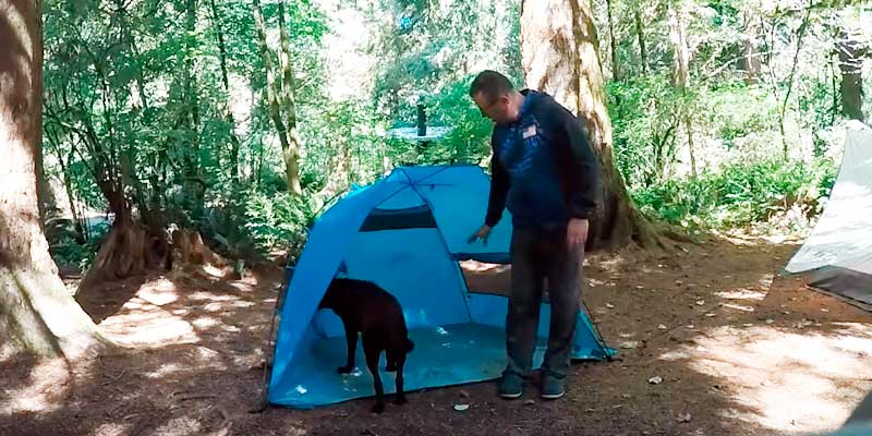 Review of Pacific Breeze Products Easy Up Large Beach Tent