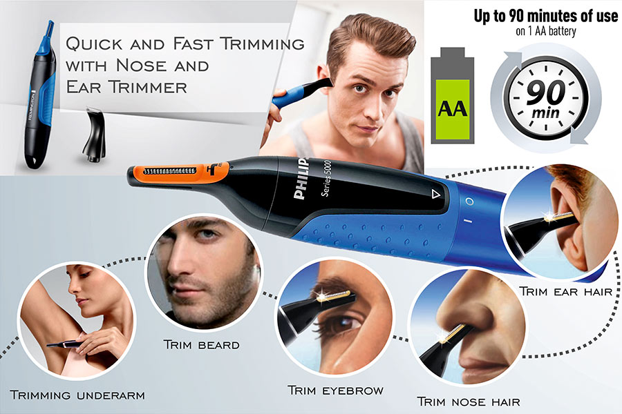 Comparison of Nose and Ear Trimmers for Men and Women