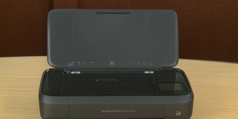 HP OfficeJet 250 All-in-One Portable Printer in the use