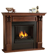 Real Flame 7100 Ashley Gel Fireplace in Mahogany