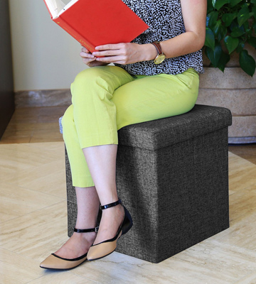 Review of Seville Classics Foldable Storage Cube Ottoman