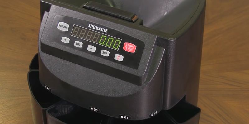 Cassida C200 Coin Sorter, Counter, and Roller in the use